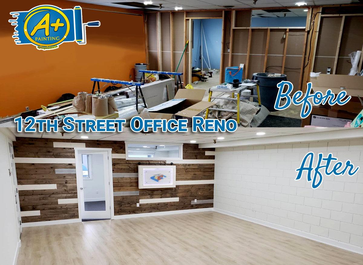 Kamloops office painting