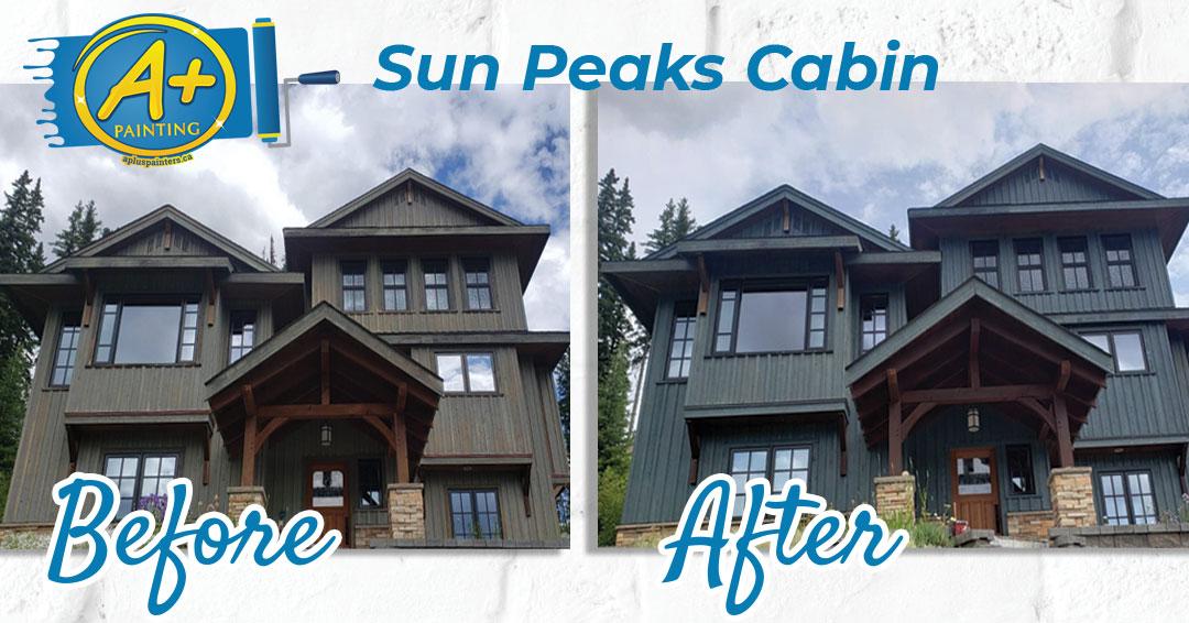 Sun Peaks cabin painting